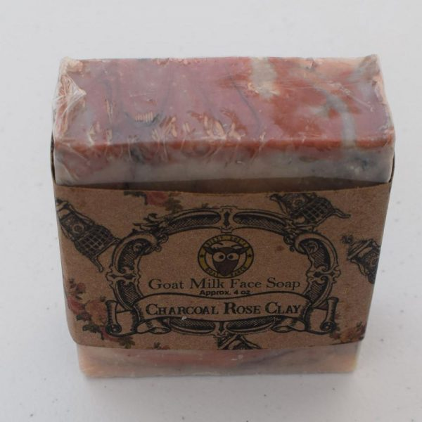 SBSO-RC Charcoal Rose Clay Goat Milk Soap