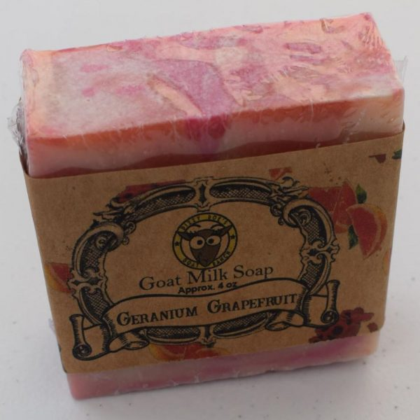 SBSO-GG Geranium Grapefruit Goat Milk Soap