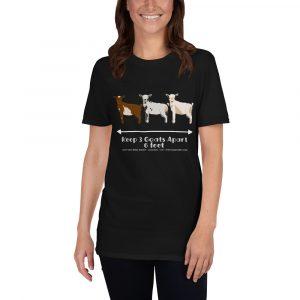 WTGS Adorable Goat Social Distancing T-Shirt