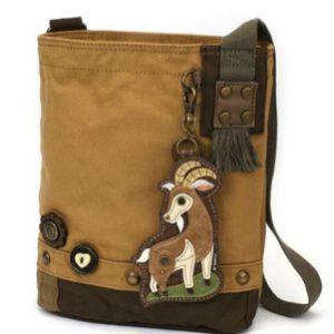 Goat Patch Crossbody Messenger Bag